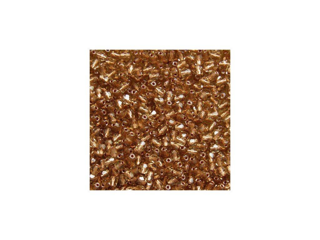 Korálky broušené - ohňovka 4 mm CL00030 - 50 ks