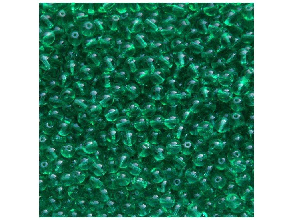 Korálky mačkané - kulička 6 mm - 50530 zelená