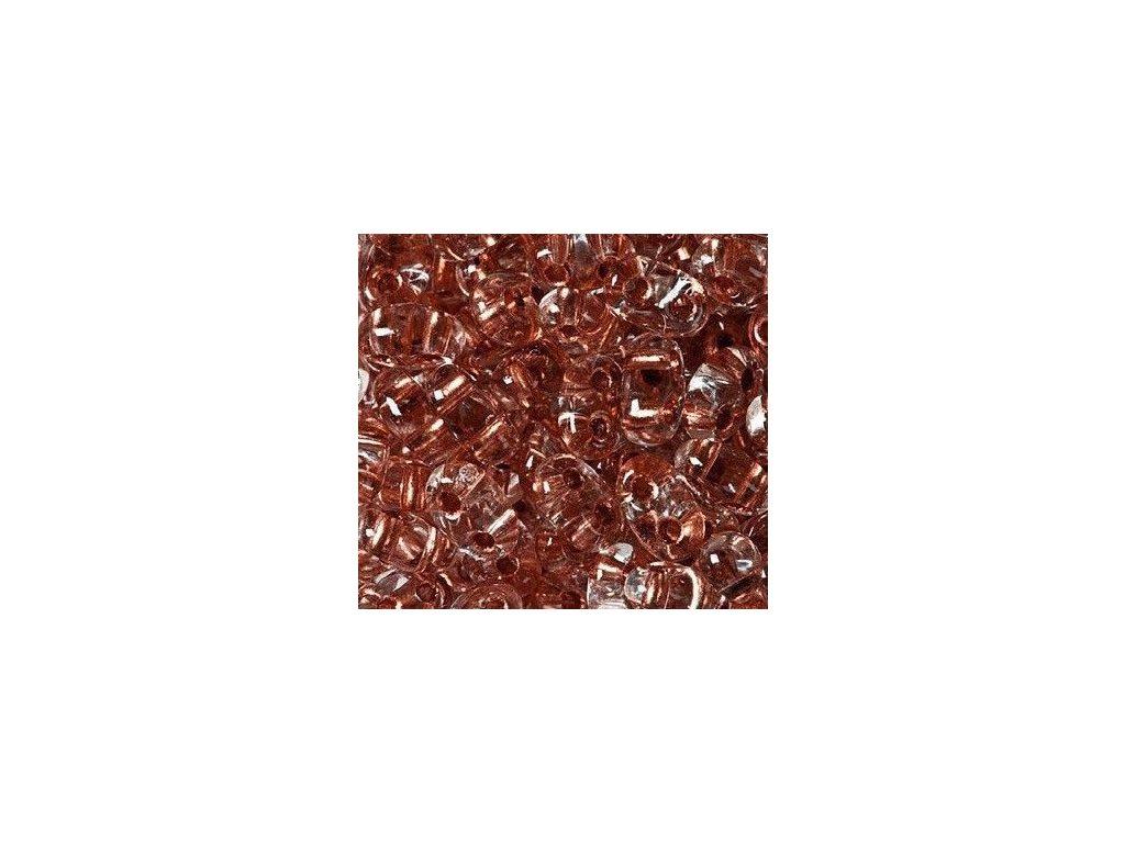 Korálky PRECIOSA Twin™ - krystal s měděným průtahem 68105