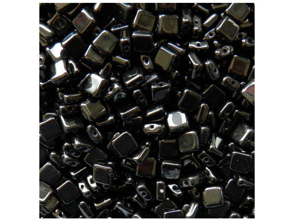 Korálky mačkané - čtvereček 23980 - 6 mm