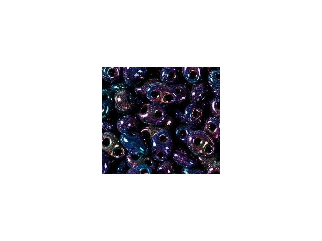 Korálky PRECIOSA Twin™ - tmavý modro-fialový iris 59205