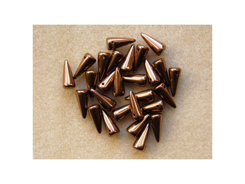 Korálky Spike Beads - trn 23980/14415 - 6 x 14 mm - 10 ks