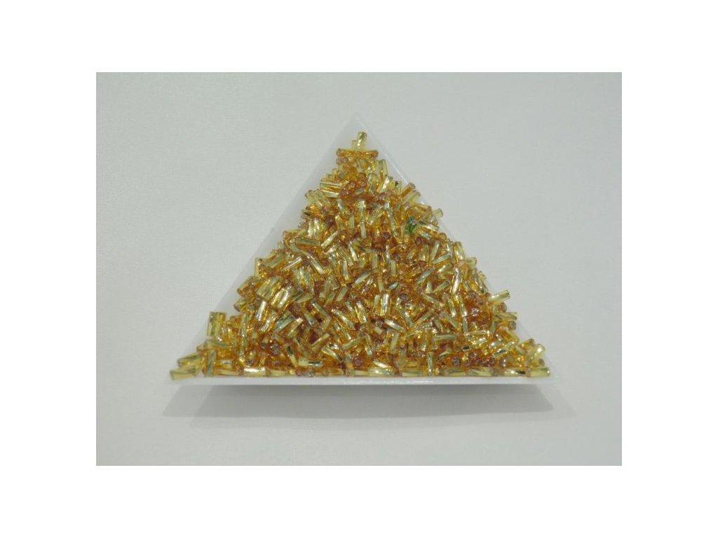 Korálky - rokajlové trubičky - světle žluté 4,5 mm