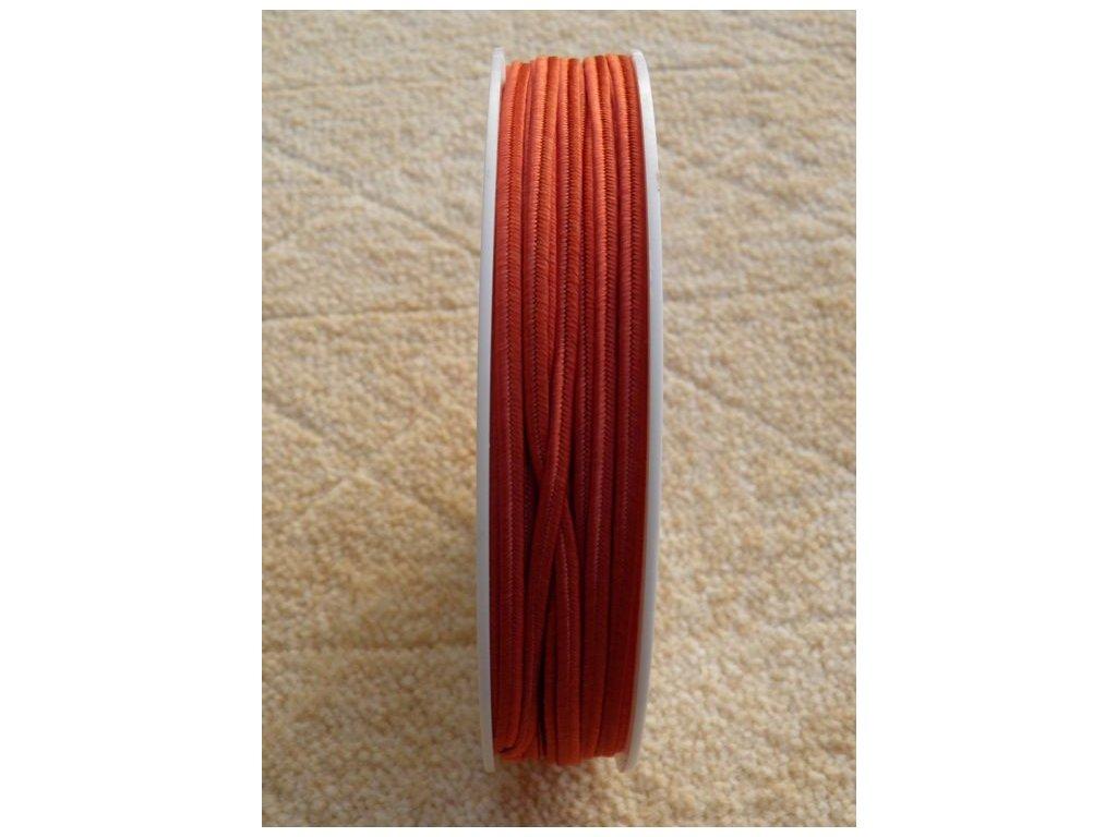 Sutaška 3 mm - č. 12 - tmavá oranžová 7302