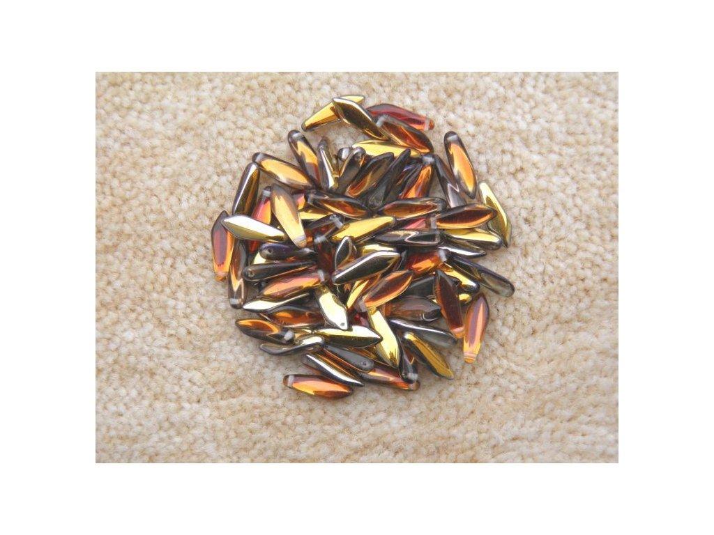 Korálky mačkané - jazýček 00030/27103 - 5 mm x 16 mm