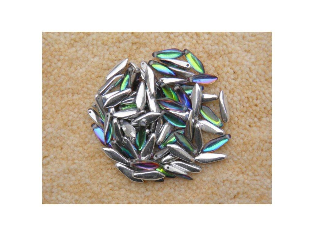 Korálky mačkané - jazýček 00030/26601 - 5 mm x 16 mm