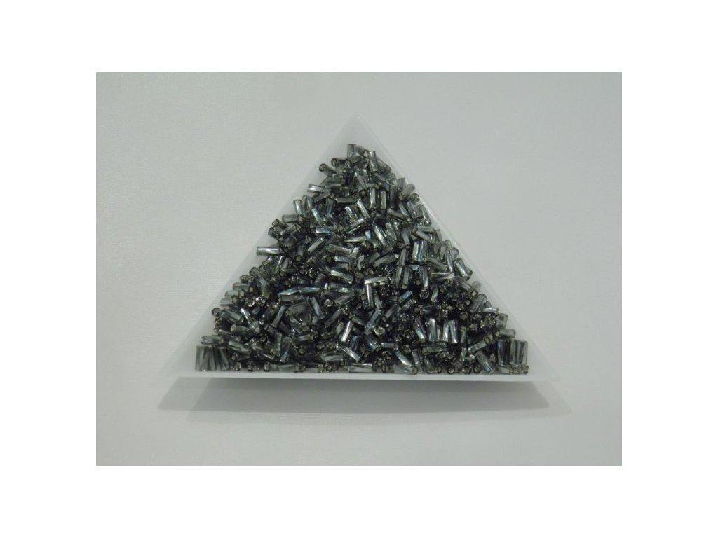 Korálky - rokajlové trubičky - šedé 4,5 mm