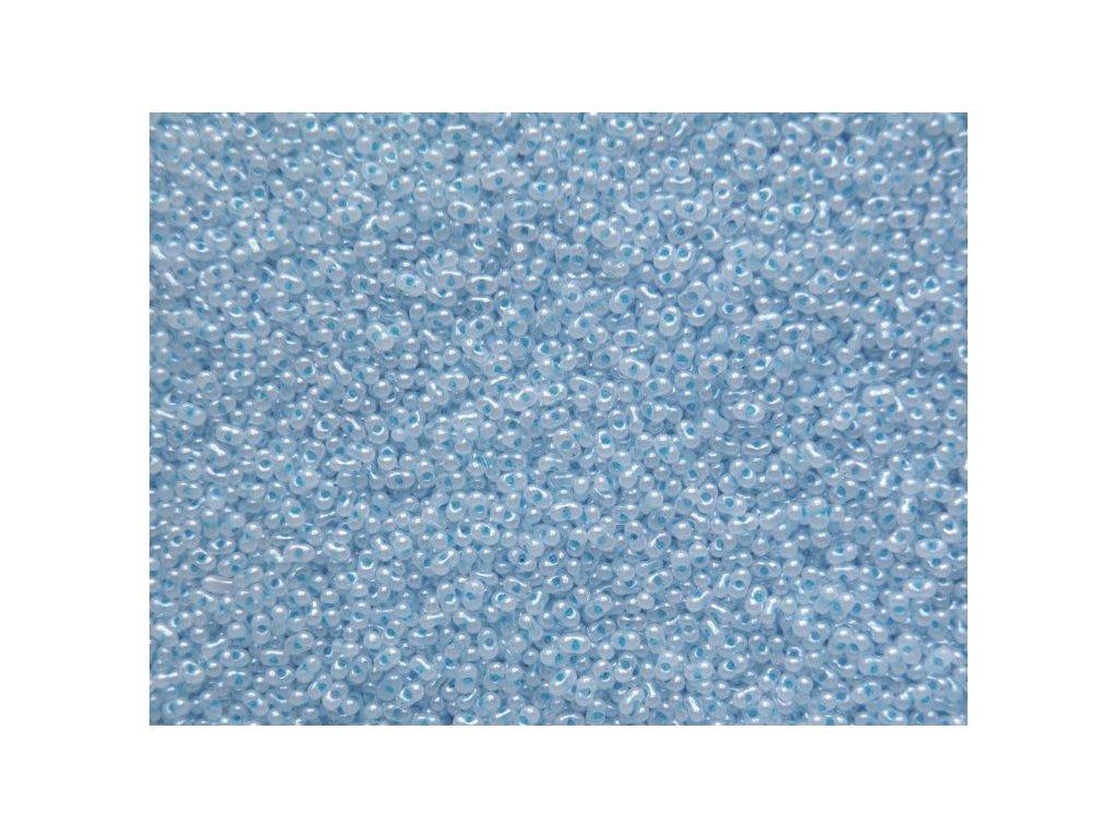 Korálky - farfale modrý alabastr 37336