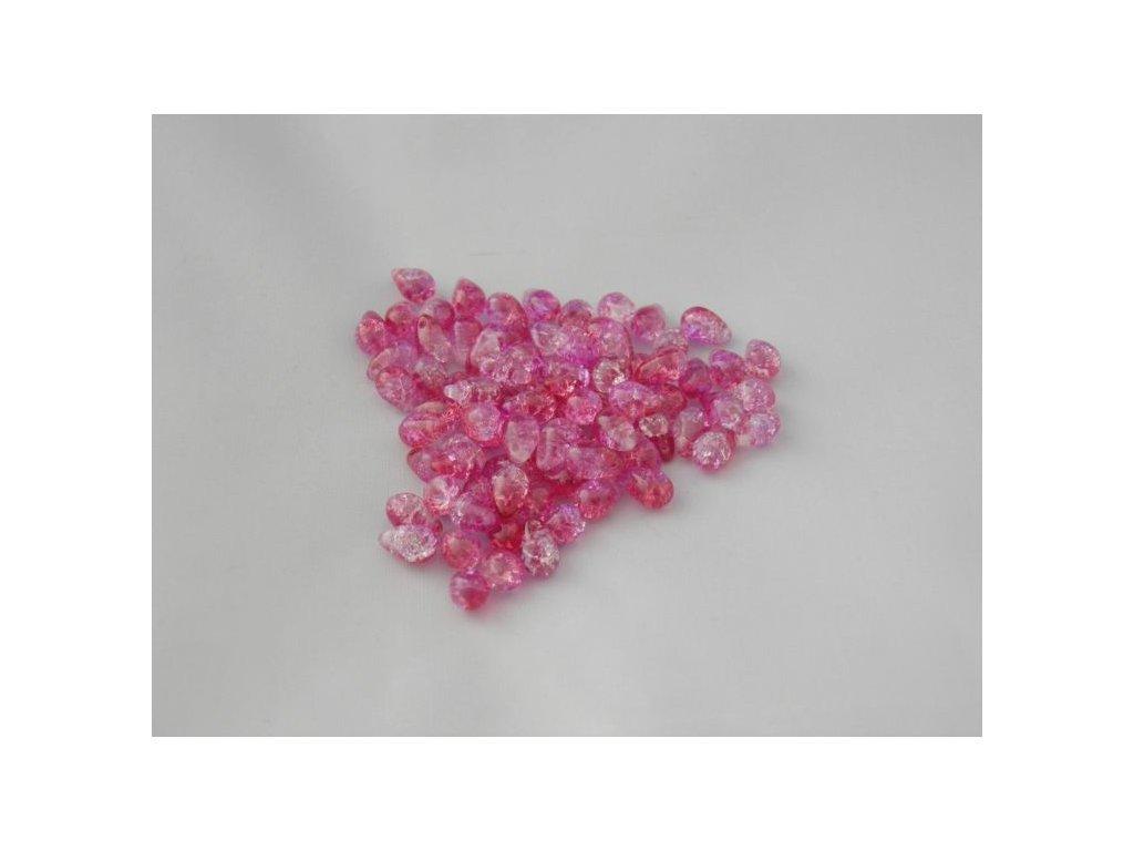 Korálky mačkané - kapka 6/9 mm - 00030/85603 růžový mix - 10 ks