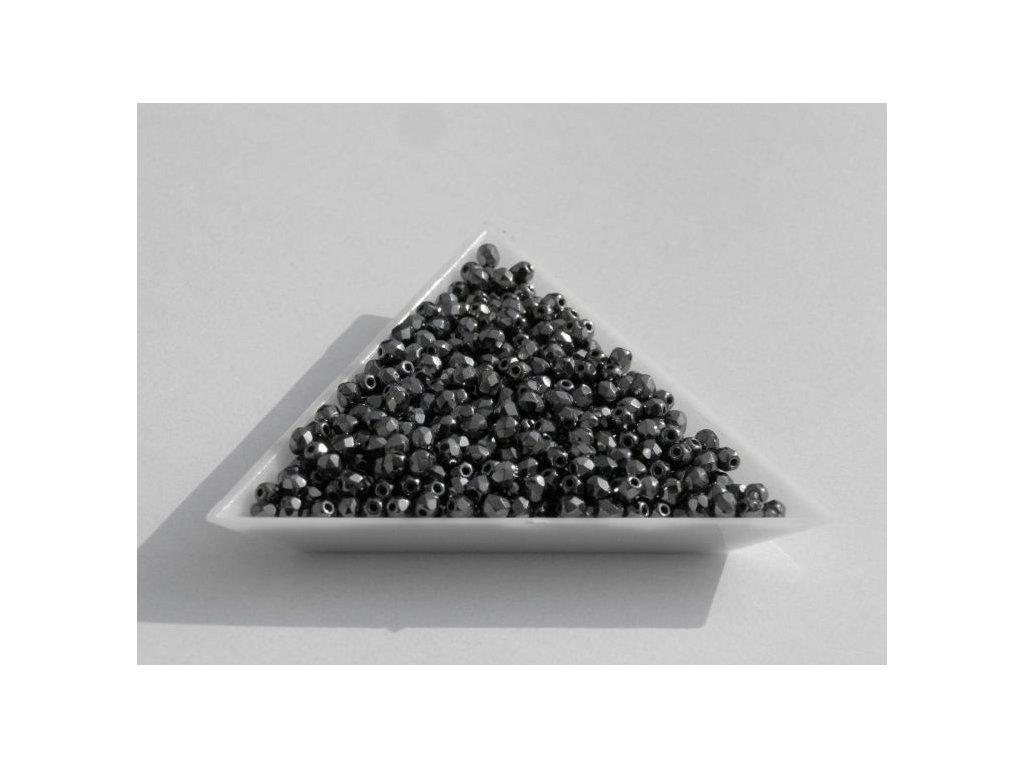 Korálky broušené - ohňovka 3 mm 23980/27200 - 20 ks