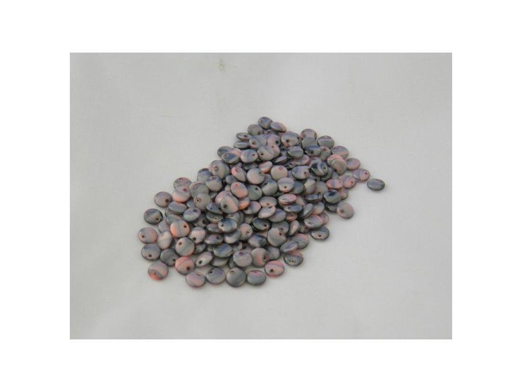 Korálky mačkané - čočka 6 mm - 26707