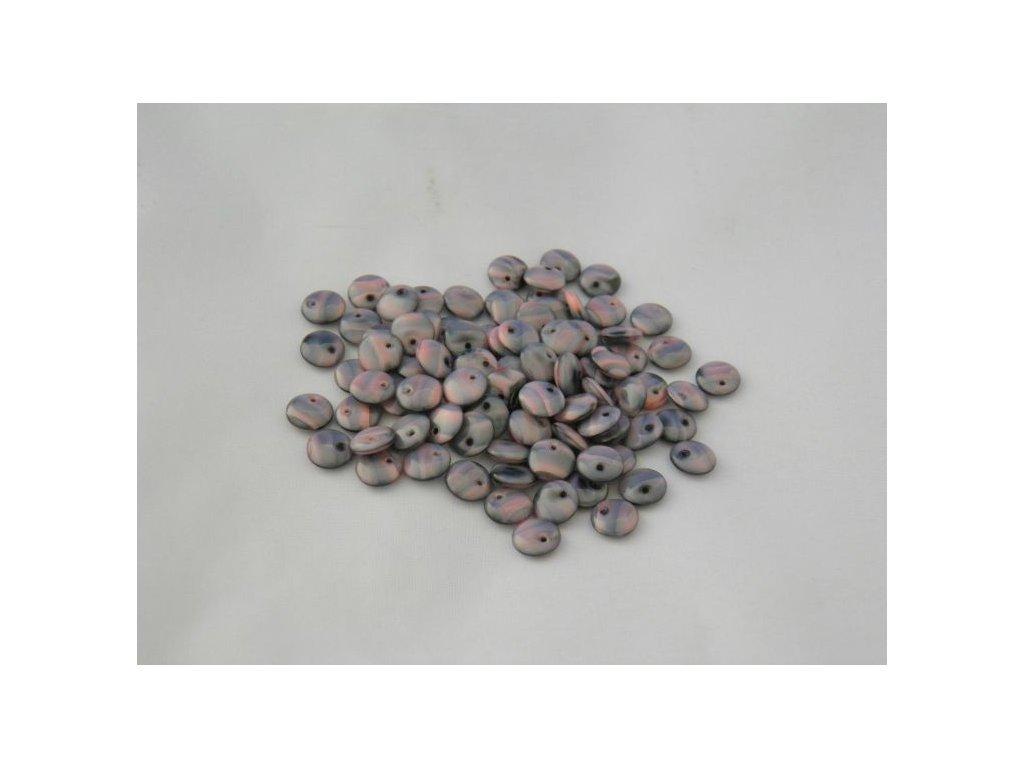 Korálky mačkané - čočka 8 mm - 26707