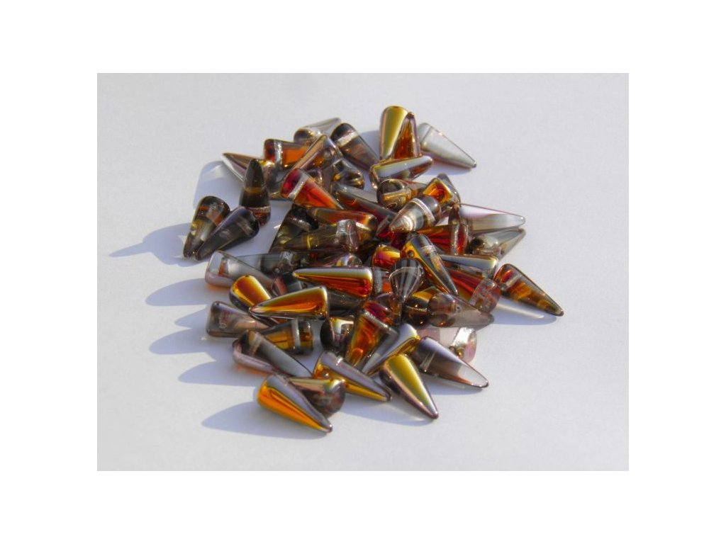 Korálky Spike Beads - trn 00030/27103 - 6  x 14 mm - 10 ks