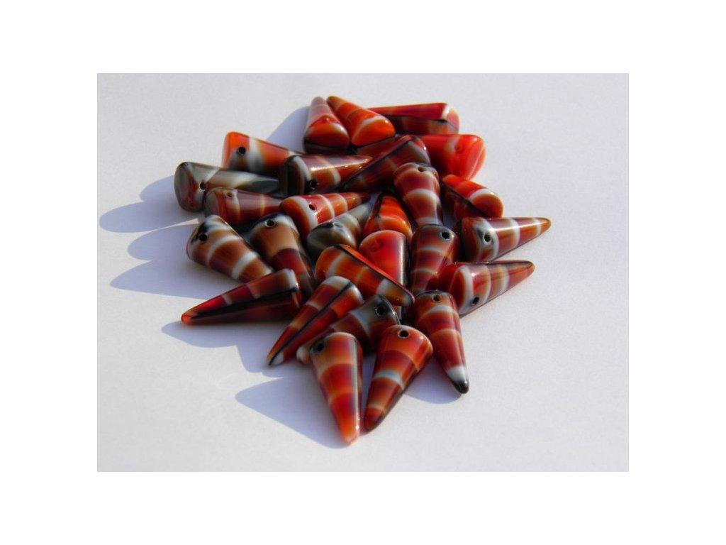 Korálky Spike Beads  - trn 26907 - 9 x 21  mm
