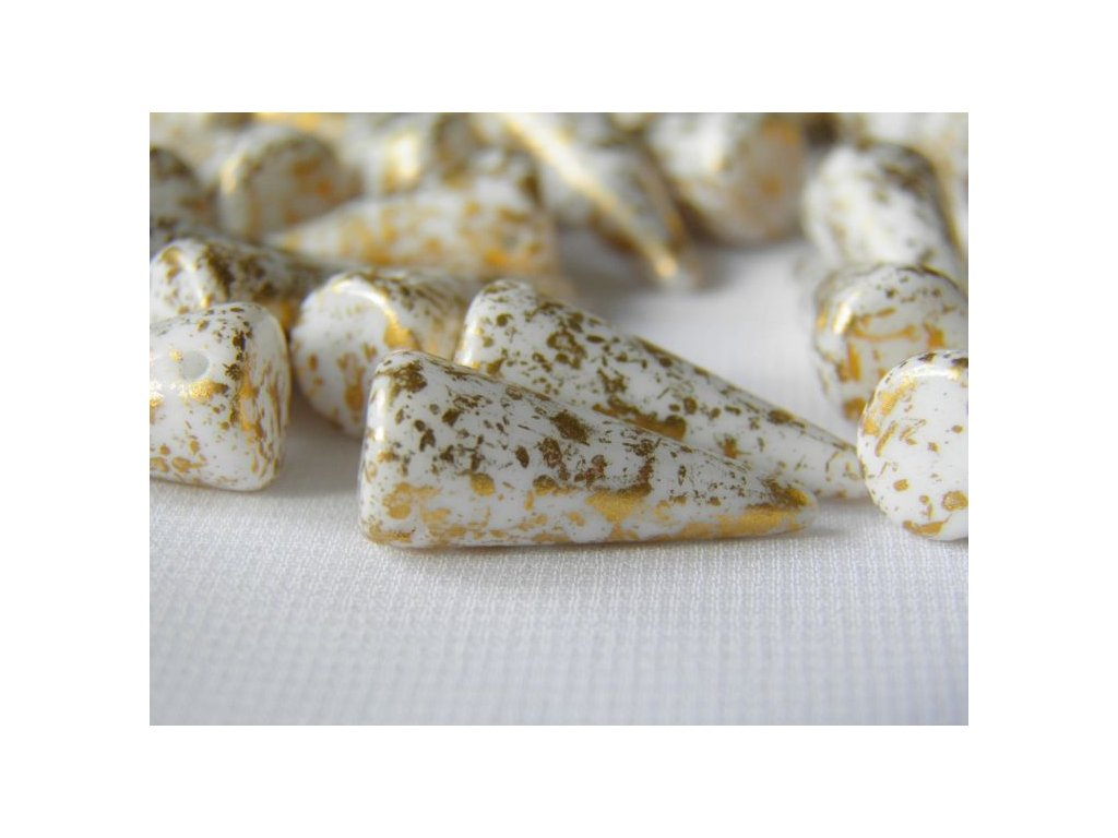 Korálky Spike Beads  - trn 03000GR - 9 x 21  mm