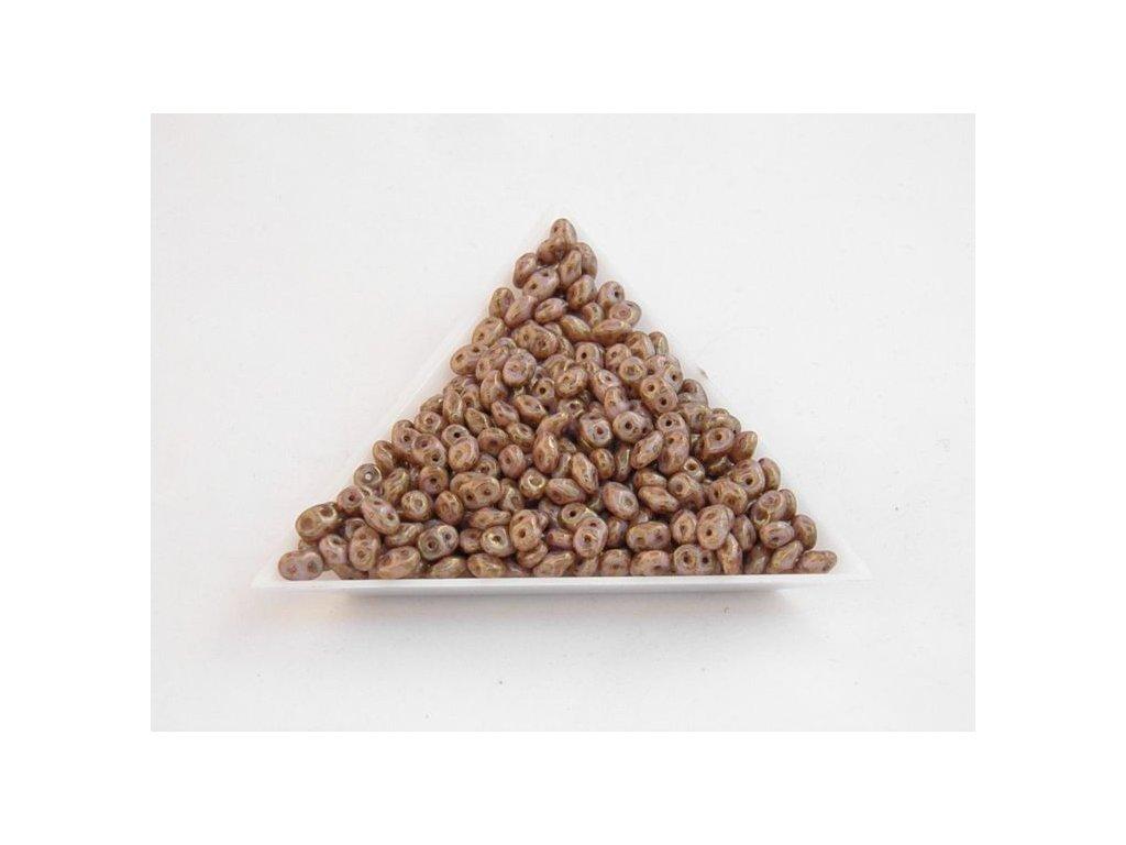 Korálky dvoudírové - superduo 03000/15695