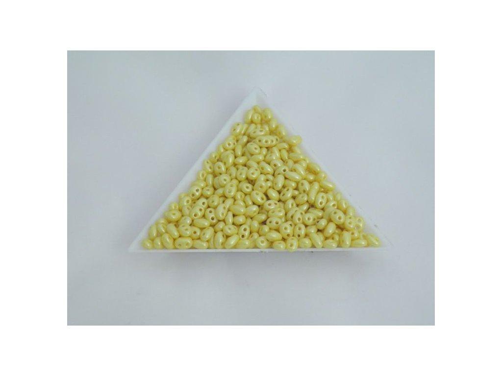 Korálky PRECIOSA Twin™ - medově žlutý vosk polomat