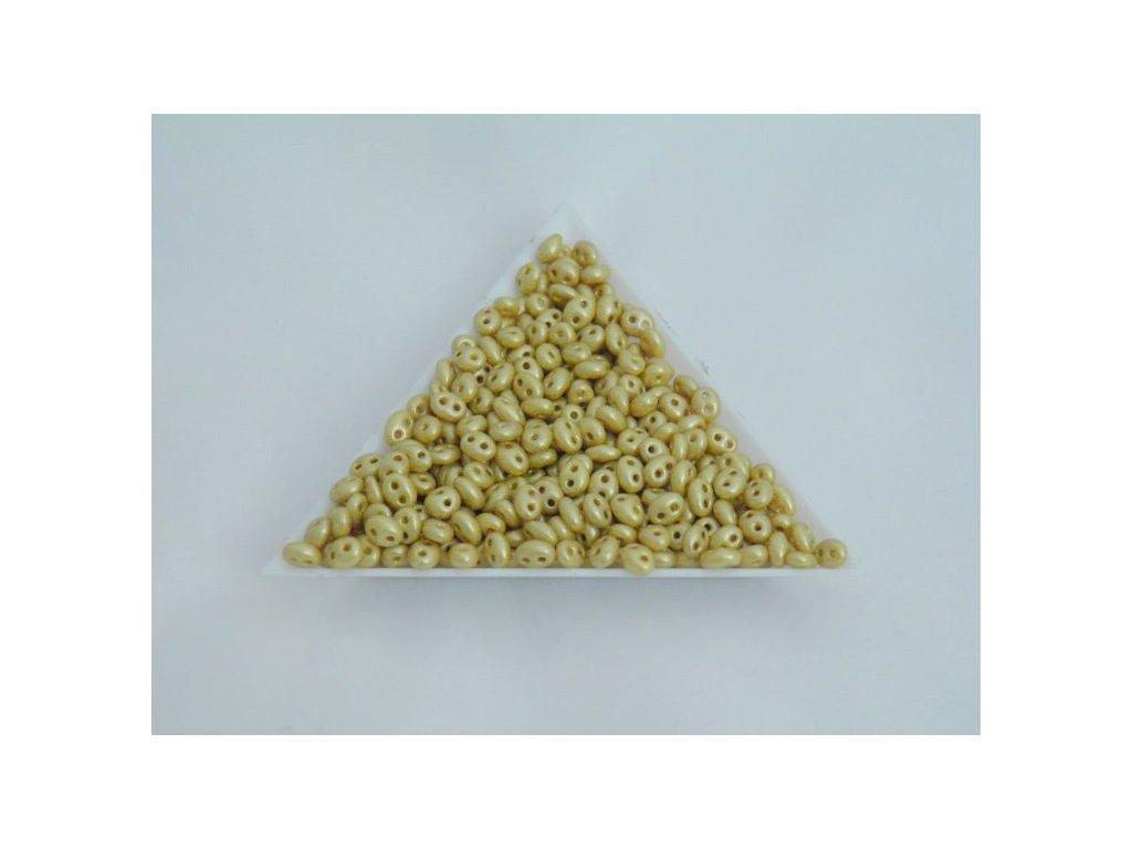 Korálky PRECIOSA Twin™ - hořčicově žlutý vosk polomat