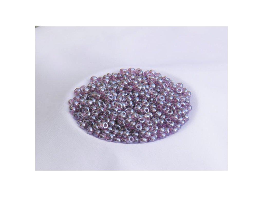 Korálky - rokajlové perličky fialové s listrem 4/0
