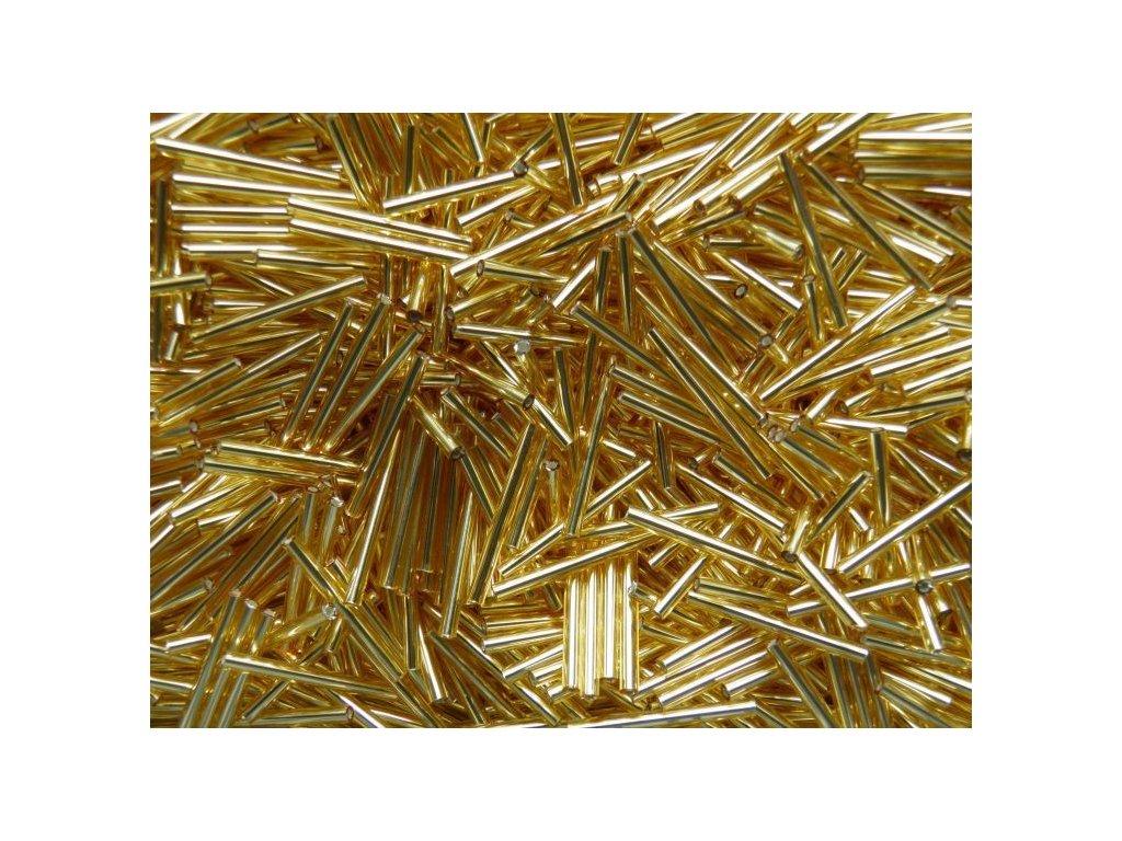 Korálky - rokajlové tyčky 20 mm - zlaté rovné 17050 (T185)