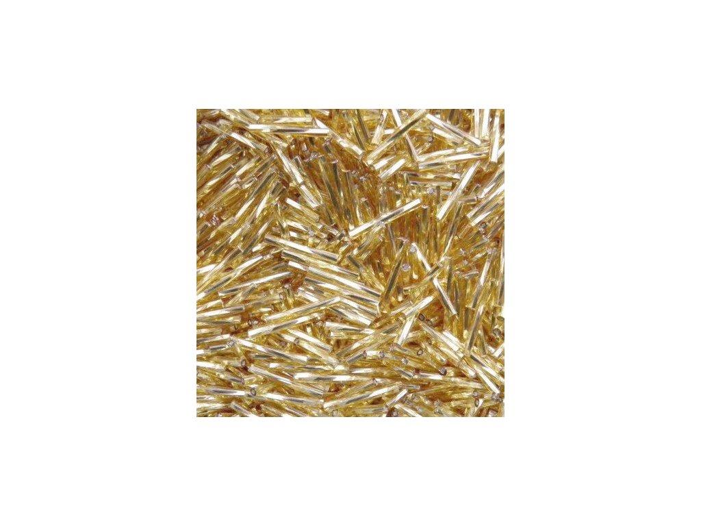 Korálky - rokajlové tyčky 20 mm - zlaté točené 17050 (T30)