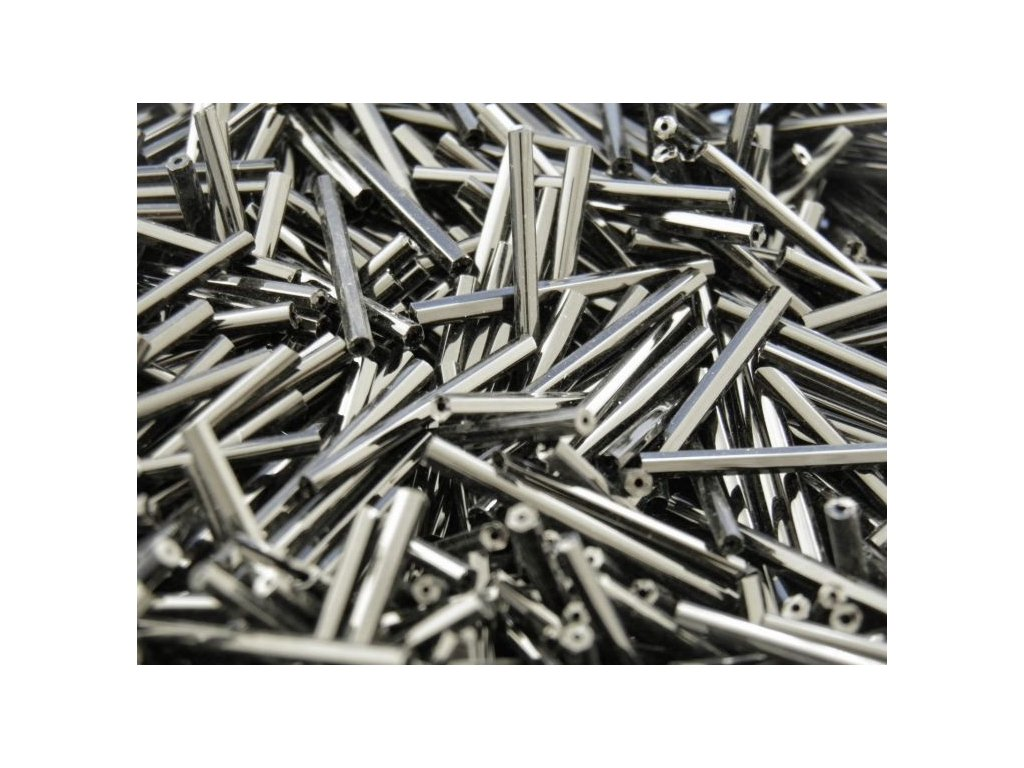 Korálky - rokajlové tyčky 15 mm - hematit 49102 (T86)