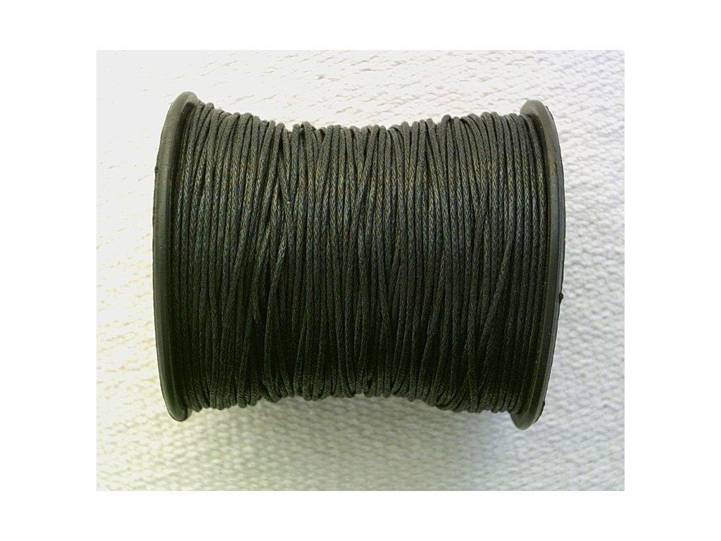 Bavlněná voskovaná šňůrka černá