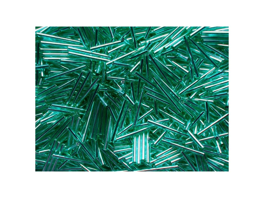 Korálky - rokajlové tyčky 25 mm - tyrkysové 57710 (T60)