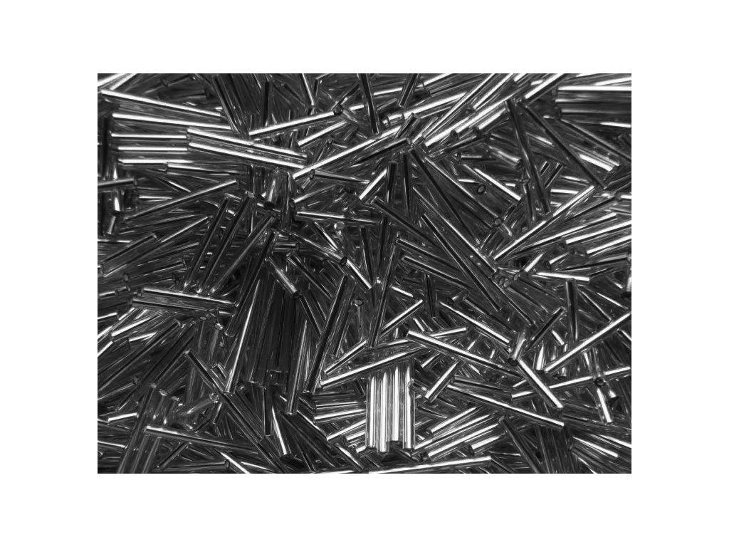 Korálky - rokajlové tyčky 25 mm - šedé rovné 47010