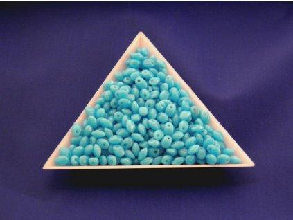 Korálky mačkané Solo - světle modré 63030
