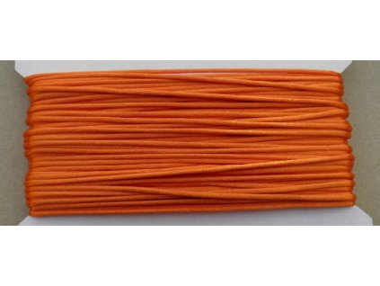 Šňůrka saténová oranžová 2 mm