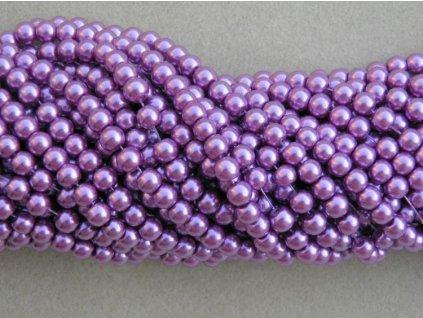 Korálky - voskované perle 4 mm růžová (DOVOZ)