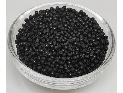 Korálky mačkané - kulička 3 mm - 23980 černá