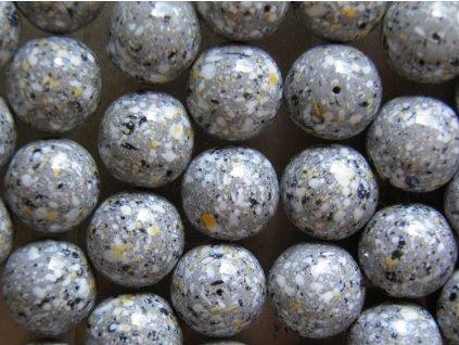 Korálky mačkané - MKL026 - kulička 12 mm - žula