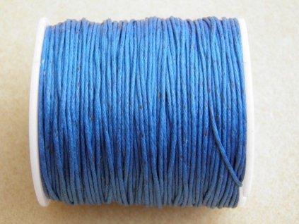 Bavlněná voskovaná šňůrka modrá