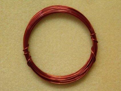 Barevný drátek 1 mm - barva hnědá
