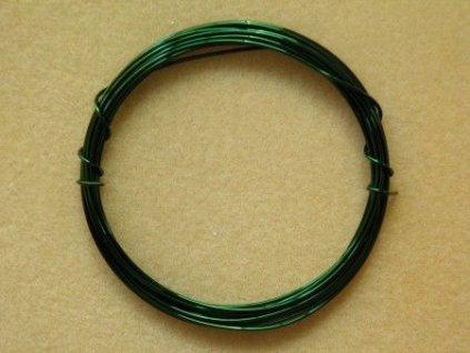 Barevný drátek 1 mm - barva tmavě zelená