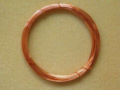 Barevný drátek 1 mm - barva světlá měď