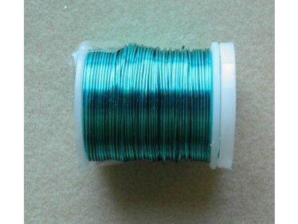 Barevný drátek 0,8 mm - barva tyrkysová
