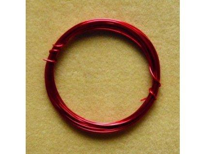 Barevný drátek 1 mm - barva růžovo-červená