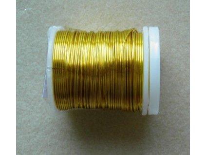 Barevný drátek 0,3 mm - barva champagne