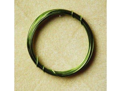 Barevný drátek 0,5 mm - barva limetková