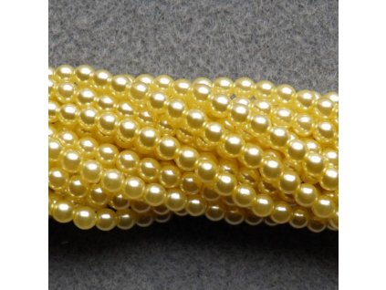 Korálky - voskované perle (70480) 5 mm