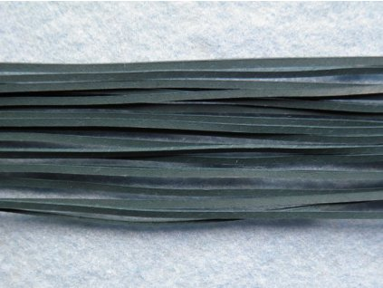 Kožený řemínek plochý - č. 18 - tmavě zelený