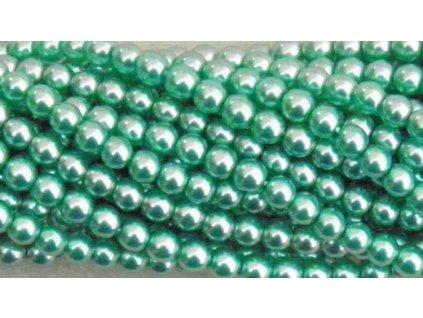 Korálky - voskované perle (70455) 6 mm