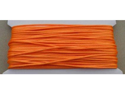 Šňůrka saténová neonově oranžová 2 mm