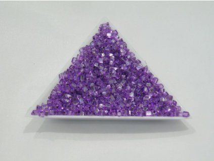 Korálky - rokajlové perličky - trojúhelníčky fialové 3,5 mm