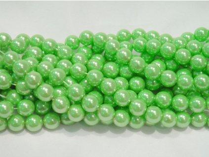 Korálky - voskované perle 10 mm zelené