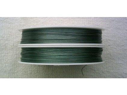 Nylonové lanko zelené - 0,38 mm - 5 m