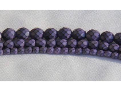 Korálky broušené - ohňovka Snake 8 mm - tmavá fialová